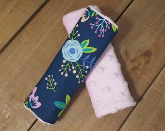 Floral Reversible Car Seat Strap Covers - Baby Items