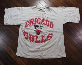 Vintage Chicago Bulls 1997 Pro Edge NBA Shirt Size Large Jordan Pippen