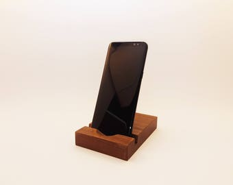 Smartphone stand. iPhone stand. Wood iPhone stand. Wooden iPhone Stand. Walnut iPhone Stand. Walnut phone stand.  Office accessories.