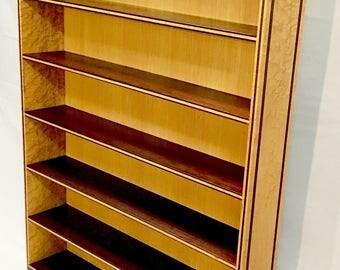 Birdseye Maple Wood Display Shelf