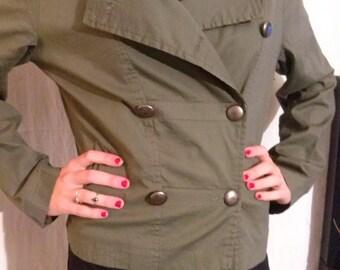 Perfecto jacket double breasted khaki