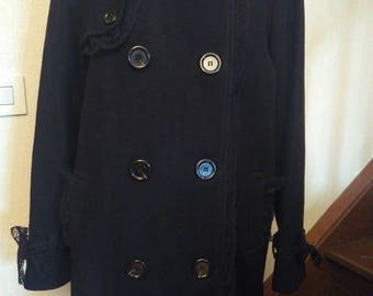 Peacoat wool and Black Lace
