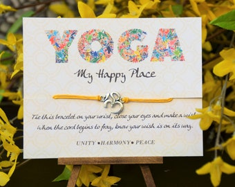 Ohm Yoga Wish Bracelet, Wish Bracelet, Yogi Gift, Birthday Gift, Gift for Her, Spiritual Gift, Graduation Gift, Bracelet, Bridesmaid Gift