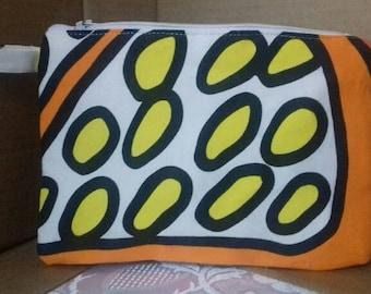 Citrus orange/yellow purse/pouch/zipper pouch