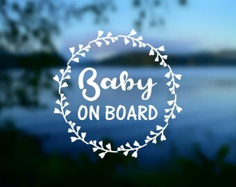 DECAL {Baby On Board} Vinyl Decal | Car Window Decal | Baby on Board Decal | Safety Sticker | Pregnancy | Bumper Sticker | Baby Shower Gift