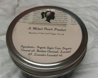 Organic coffee sugar scrub, artisan made, facial mask, blackhead treatment, face scrub, skin toner,