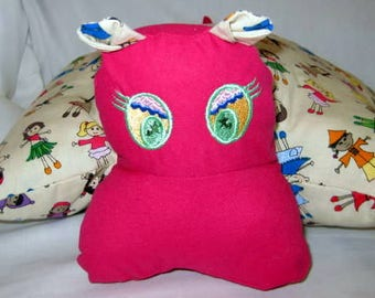 hippo pillow - fabric with children of many nations