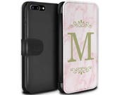 Pink Marble Yellow Font Frame Personalized Custom Design Wallet Flip Phone Case iPhone 5 5s SE 6 6S Plus 7 7 Plus