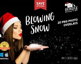 20 Blowing Snow Kisses, Photo overlays, Wedding overlays, Texture overlays, Snowflake overlays, Blowing snow, Winter snow, Christmas snow