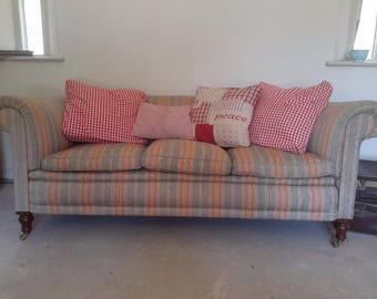 Victorian chesterfield sofa turned legs  to castors