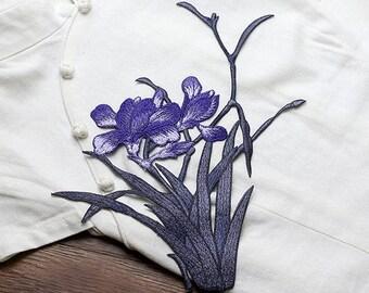 Purple Flowers Appliques