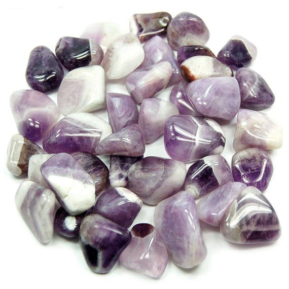 Amethyst Chevron Tumbled Stone Purple Crystal Healing