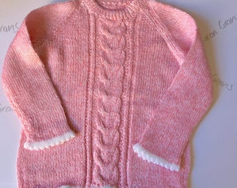 Hand knitted tunic for toddler great with leggings