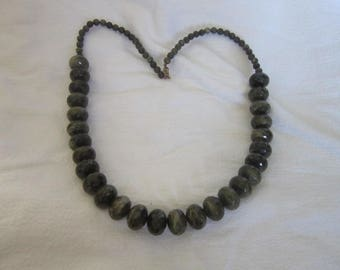 Funky Bodacious Retro Large Faceted Plastic Beaded Necklace