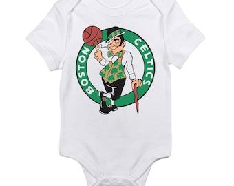 Boston Celtics Logo Baby Onesie