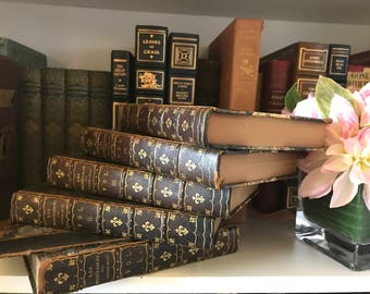 1905 Les Miserables by Victor Hugo in five volumes