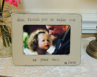 Father's Day frame Gift for stepdad Step dad gift personalized picture frame for dad stepdad stepparent thank you for loving me as your own