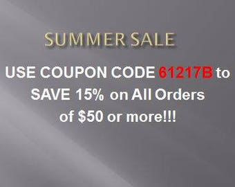 Use Coupon Code 61217B to Save!!!!
