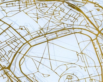 Personalised map - etched metal map