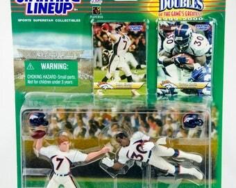 Starting Lineup NFL Classic Doubles John Elway Terrell Davis Action Figure