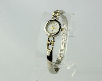 Women's Silver & Gold Sergio Valente P-18BFJ Ladies Dress Watch