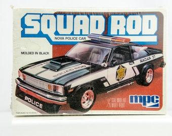 ORIGINAL Sealed Vintage MPC Squad Rod Chevy Nova Police Car 1/25 Model Car 10744