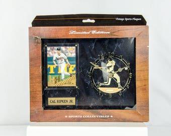 Ultra Rare Pinnacle Baltimore Orioles Cal Ripken Jr. Clock & Plaque