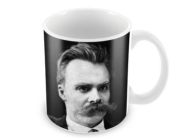 Friedrich Nietzsche  Ceramic Coffee Mug    Free Personalisation