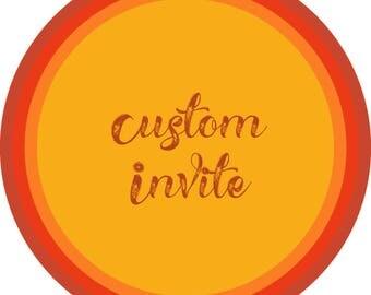 Custom Invite-moana invite-kids party invite-unicorn invite-babyshower invite-birthday invite