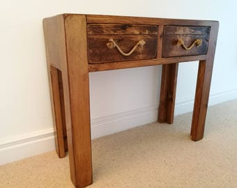 Rustic  Handmade Side/Console Table