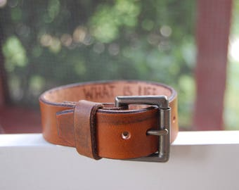 Leather bracelet with custom secret message!