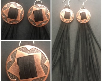 Concho earrings (8cm)