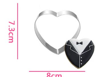 Heart Shaped Cookie Cutter- Fondant Biscuit Mold - Pastry Baking Tool Set