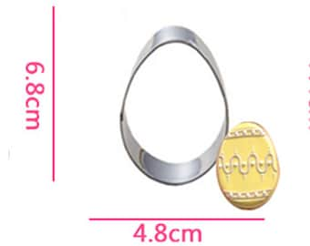 Egg Cookie Cutter- Fondant Biscuit Mold - Pastry Baking Tool Set