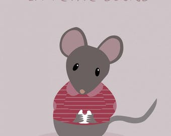 """Kids poster """"The little mouse"""""""