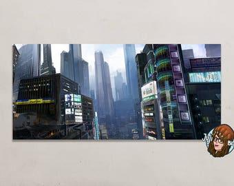 Map - print - 22 x 10, 5 cm - city scene