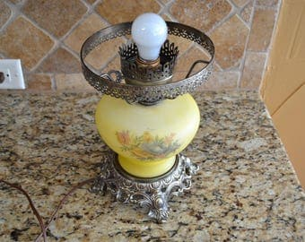 Vintage Lamp Midcentury Underwriters Laboratories Yellow Brass
