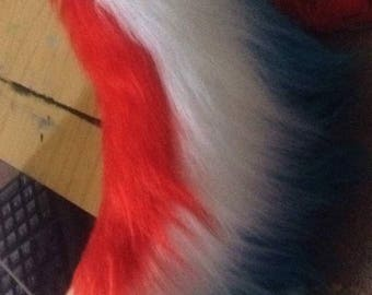 Premade tri-colour tail. Fursuit tail