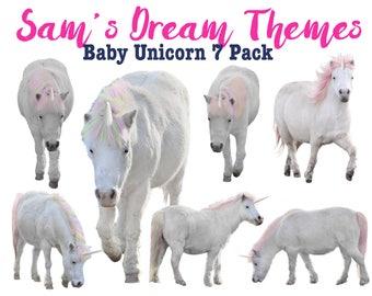 Baby Unicorn OVERLAY, Unicorn Stock, Unicorn Cutout, Unicorn PNG, Unicorn Digital Backdrop, Unicorn Digital Backdrop, white unicorn