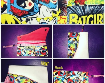 SuperU Collection #04- Batgirl Clutch- Handmade unique handbag