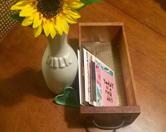 Vintage drawer. Perfect for holding cards or photos!