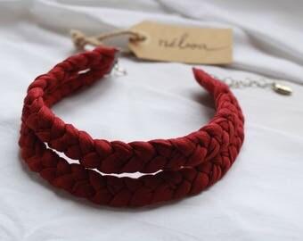 Trapillo Garnet braided necklace/Choker