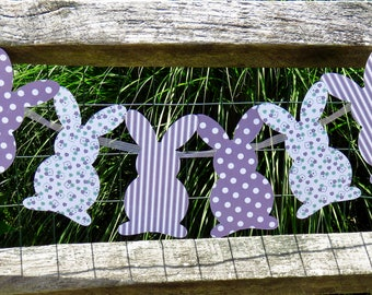 Bunny Banner, bunny garland, Easter Garland, Easter banner, baby shower banner, spring banner, Easter bunny banner, Bunny Party Decorations