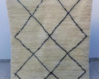 Tapis marocain, tapis berbère, tapis de beni ourain, tapis de beni ourain, design classique avec des beni ourain, BENI OURAIN, beni ouarain