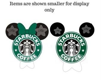 Mickey & Minnie Starbucks Iron On Transfer