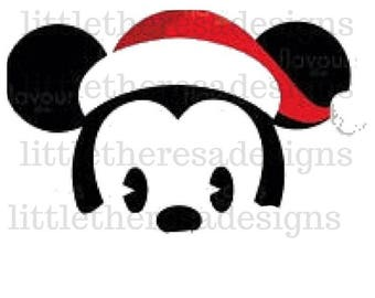 Santa Mickey Iron On Transfer,Digital Transfer,Digital Iron On,Diy