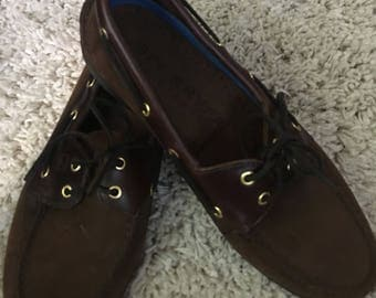 Men's Brown Sperry Top Siders size 10.5 very gently worn