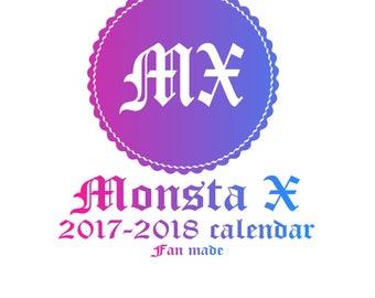 Monsta X 2017 - 2018 Calendar