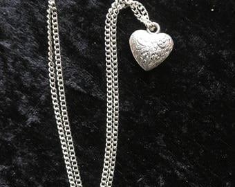 3D silva heart necklace