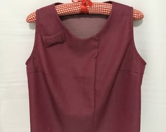 Red Ribbon Sleeveless Top
